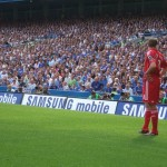 Steven Gerrard and the Chelsea crowd