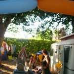 Caravan friends!  Seriously, caravans are the perfect venue for an impromptu (and cosy) party